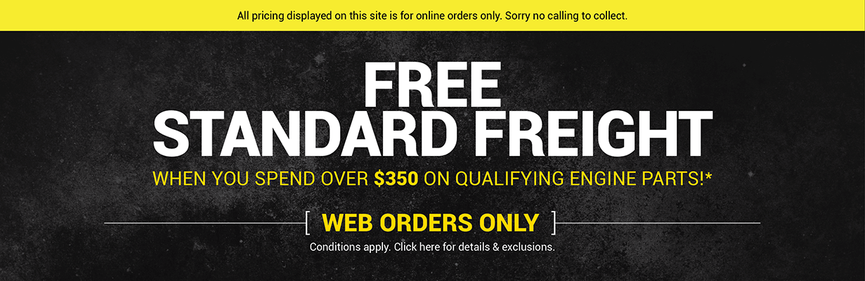 Free Freight on Orders Over $350+gst