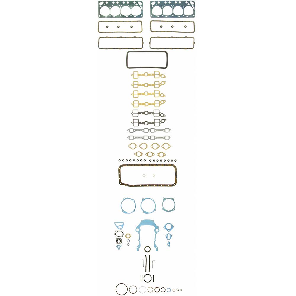 Full gasket set Ford 256, 272, 292, 312 V8 1955-62 Y block F